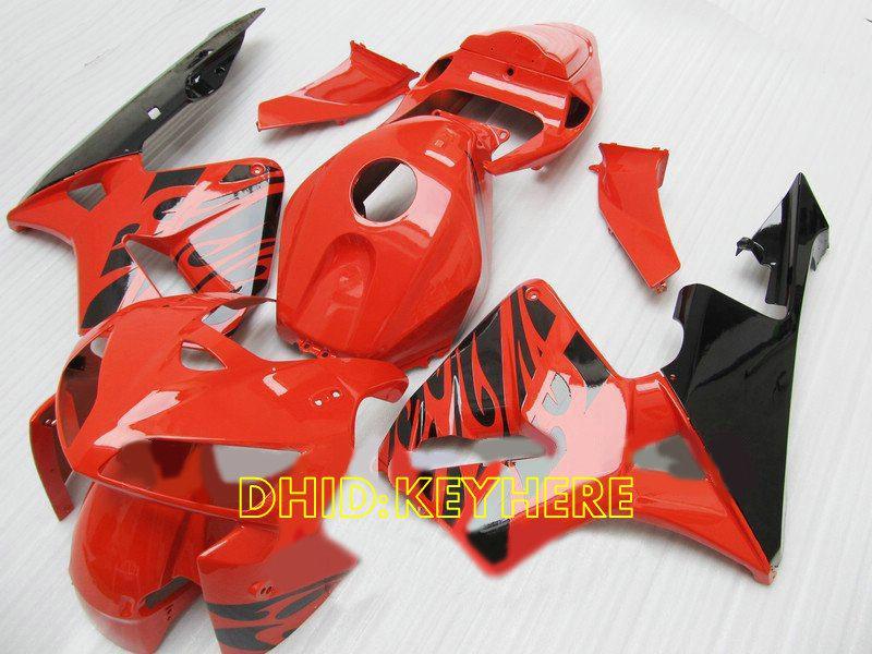 Honda 2005 CBR600 RR 2006 CBR600RR 05 06F5ボディワークのためのHN16注入赤炎カスタムフェアリングキット