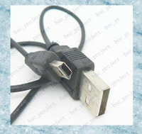 Wholesale Male Mini Usb Pin - New USB 2.0 A to Mini 5-Pin B Male Data Cable Adapter 100pcs lot