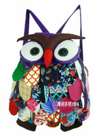 Wholesale Kids Backpack Cartoon Animals - Cute Girls Boys Small Animal Owl Backpack Kids Cotton High quality Child Bag 5pcs lot