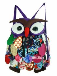 Wholesale Cute Small Boys - Cute Girls Boys Small Animal Owl Backpack Kids Cotton High quality Child Bag 5pcs lot