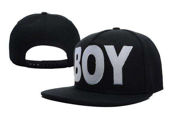 BOY LONDON Boy Snapback en noir Snapback HIP HOP Street Casquettes Deux Couleurs Mix Ordre Haute Qualité