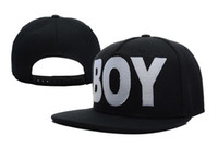 Wholesale London Boy Snapback - BOY LONDON Boy Snapback in Black Snapback HIP HOP Street Caps Two Colors Mix Order High Quality