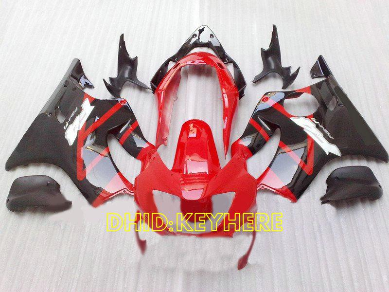 Carénage de course custom rouge / noir 1999 2000 Honda CBR600 F4 cbr 600 CBRF4 99 00 kit carénage complet