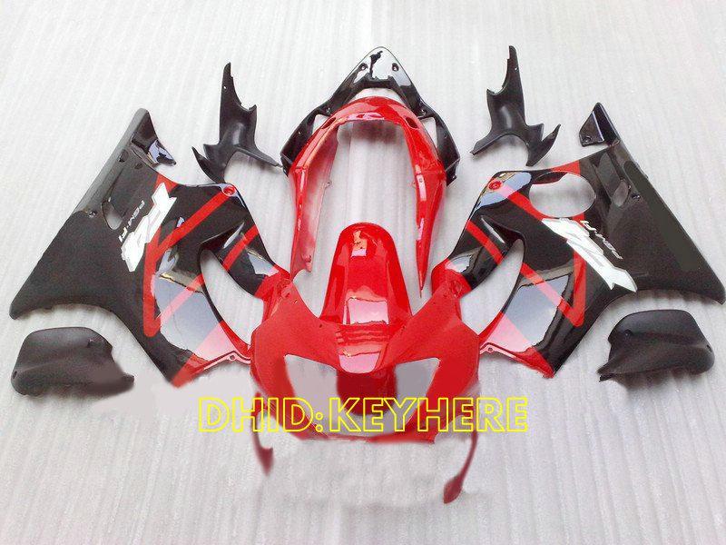 Röd / Svart Custom Racing Fairing för 1999 2000 Honda CBR600 F4 CBR 600 CBRF4 99 00 Full Fairings Kit