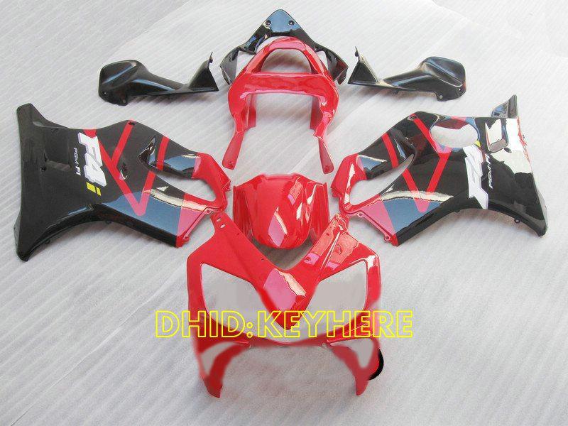 2002年2003年の赤/黒カスタムフェアリングキットHonda CBR600 F4i 2001 01 02 03 CBR 600 CBRF4Iボディーワーク
