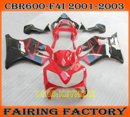 Custom Body Honda Cbr Canada - RED black custom fairing kit for 2002 2003 Honda CBR600 F4i 2001 01 02 03 cbr 600 CBRF4i body work
