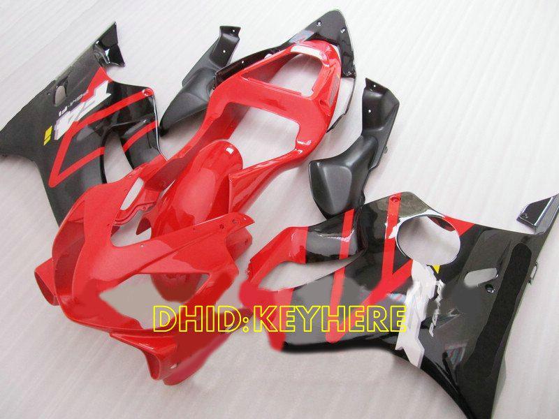 RED / 블랙 커스텀 페어링 키트, 2002 년 혼다 CBR600 F4i 2001 01 02 03 cbr 600 CBRF4i 바디 작업