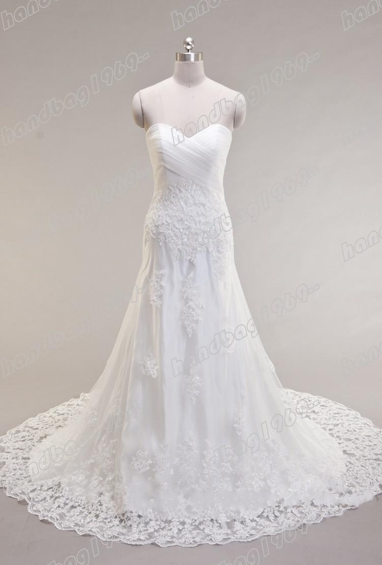 White Strapless Sheath Bridal Wedding Dresses Gowns Dress No03 Online With 14858piece On Handbag1969's Store Dhgate: White Wedding Dresses No At Websimilar.org
