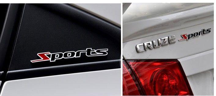 20 PÇS / LOTE 3D Metal Personalizado emblemas de esportes emblemas adesivos Car styling