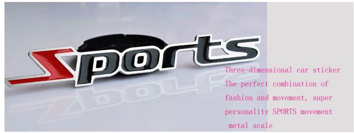 / Metallo 3D Distintivi di emblemi sportivi personalizzati adesivi Car styling