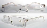 Wholesale Clear Reading - (20pcs lot) Unisex plastic Transparent clear reading glasses power +1.00 +1.50 +2.00 +2.50 +3.00 +3.50, +4.00