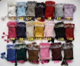 $enCountryForm.capitalKeyWord Canada - 2017 Fashion Rabbit fur half finger gloves Girl's leather gloves winter mittens warm lovely glove