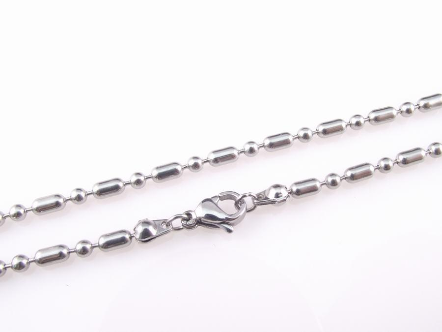 랍스터 걸쇠 목걸이 대나무 관절 공 뜨거운 판매와 고품질 스테인레스 스틸 비드 체인 2.4mm