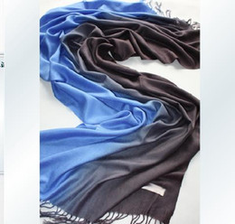 Wholesale Wholesale Silk Neck Scarf - Pashmina feeling Silk Shawl Wraps Scarf Womens Neck Scarves 2-Tone 30 Colors 30pcs lot#A1002