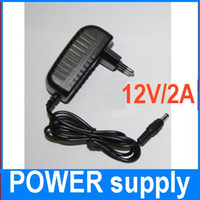 24W fonte de alimentação para 3528 SMD levou Strip Light 100V-240V AC / DC 12V 2A Power Adapter 20pcs / lot DHL