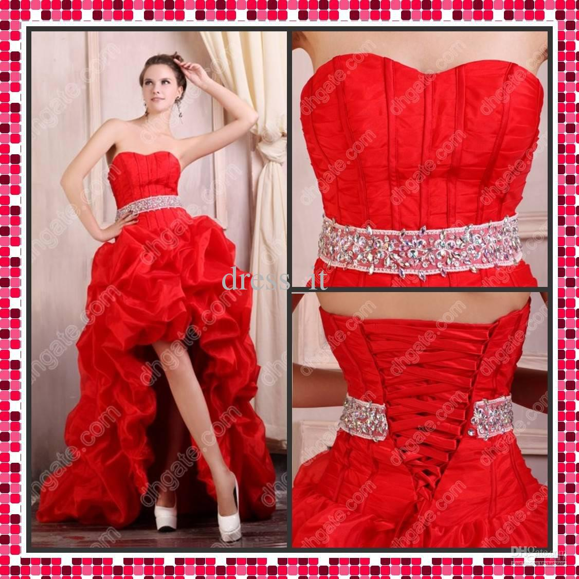 2013 romantic high low prom dress a line strapless beading waist see larger image ombrellifo Choice Image