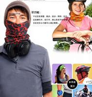 moda açık hava sihirli fular toptan satış-Sıcak Tasarımlar Moda Çok Fonksiyonlu eşarp Açık Dikişsiz Bandana Sihirli Çok Fonksiyonlu Türban