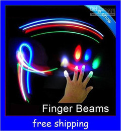 Wholesale Toy Rings Party - LED Bright Finger beams Ring Lights Rave Party Glow LED fingers toys