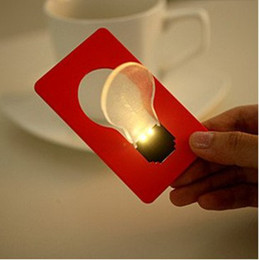 2019 multi luzes coloridas noite Presentes de natal Cartão de Bolso Cartão de Bolso LEVOU Noite Luz Da Lâmpada Portátil cartão lâmpada