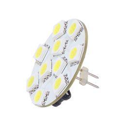 Wholesale G4 Led Back Pins - 10 LED G4 Light Round Board SMD 5050 Wide Volt 12VDC 12VAC 24VDC 24VAC Back Pin White Warm White