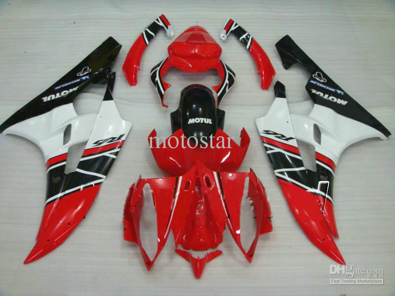 NO1 red white ABS bodywork fairings for YZF R6 06 07 YZF-R6 2006 2007 YZFR6 600 yzf600 fairing kit