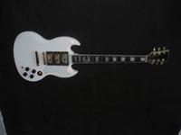 Wholesale Guitar Sg Whiter - creme custom sg lvory electric guitar China guitar ebony fingerboard 3 pickups white 008