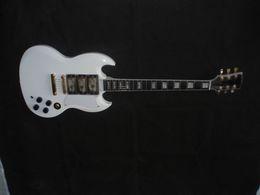 Wholesale Electric Guitar Sg - creme custom sg lvory electric guitar China guitar ebony fingerboard 3 pickups white 008
