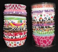 vasos de papel para cupcakes al por mayor-Banquete de boda para hornear tazas cupcake liners muffin cases paper