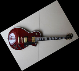 Wholesale Mahogany Finish - New custom electric guitar China Guitar mahogany body ebony fingerboard pearl inlay wine finish red