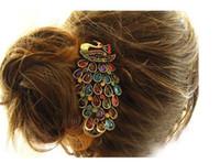 Wholesale Korea Fashion Hair Clip - fashion south Korea style hair pin restore ancient luxuriant peacock hair clip hair pin 12pcs lot