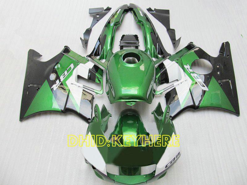 Carenado Racing verde / blanco ABS para Honda CBR600F2 91 92 93 94 CBR600 F2 1991 1992 1993 1994 bodykits