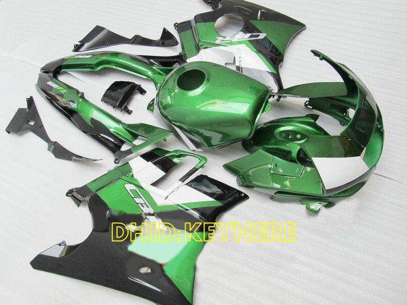 Grün / weiß ABS Racing Verkleidung für Honda CBR600F2 91 92 93 94 CBR600 F2 1991 1992 1993 1994 Bodykits