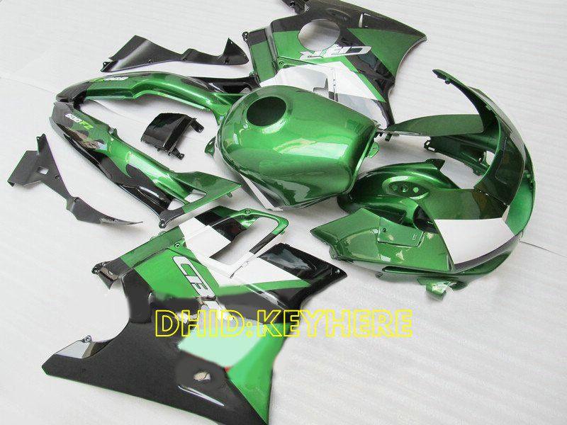 Verde / branco ABS Racing carenagem para Honda CBR600F2 91 92 93 94 CBR600 F2 1991 1992 1993 1994 bodykits