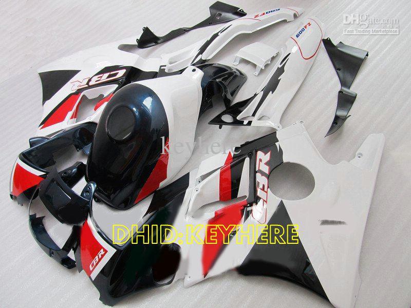 Vit / Mörkblå Racing Fairing för Honda CBR600F2 91 92 93 94 CBR600 F2 1991 1992 1993 1994 Fairings