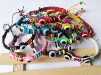 "Wholesale String Kabbalah Lucky Bracelet - Lot of 60-Mix Color New Classic String Bracelets with ""Lucky Eye"" Beads Kabbalah Charm Bracelet Evil"
