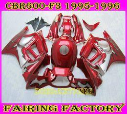 $enCountryForm.capitalKeyWord Australia - Red gray Custom ABS Racing fairing for Honda CBR600F3 95 96 CBR 600 F3 1995 1996 motorcycle body kit