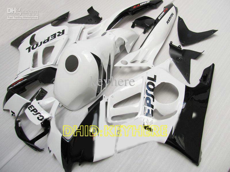 Beyaz repsol Honda CBR600F3 95 96 CBR 600 F3 1995 1996 cbr600 f3 gövde kiti için enjeksiyon kalıplama