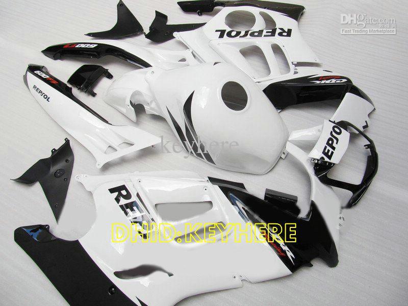 Weiß Repsol Spritzgussverkleidung für Honda CBR600F3 95 96 CBR 600 F3 1995 1996 cbr600 f3 Bodykit