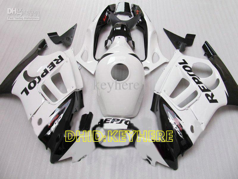 Weiße Repsol ABS Custom Racing Moto Verkleidung für Honda CBR600F3 97 98 CBR 600 F3 1997 1998 Body Kit