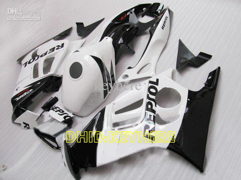 ホワイトレポートABSカスタムレーシングモトフェアリングホンダCBR600F3 97 98 CBR 600 F3 1997 1998ボディキット
