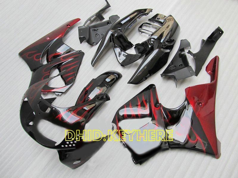 Red Flame Race moto carenado para Honda CBR900RR 893 1996 1997 CBR 900RR CBR893 96 97 carenados conjunto