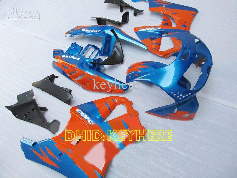 Blau / orange benutzerdefinierte moto Verkleidung für Honda CBR900RR 893 1996 1997 CBR 900RR CBR893 96 97 Verkleidungen gesetzt