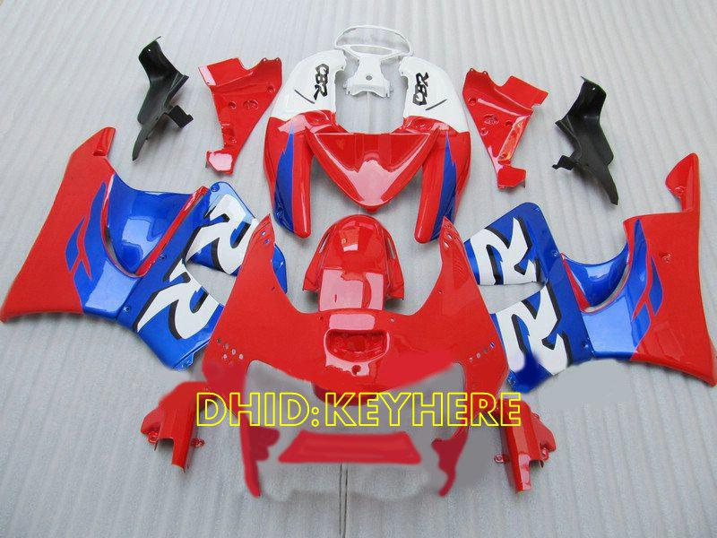 Rood / Blue Race Moto ABS Kuiken voor HONDA CBR900RR 919 1998 1999 CBR 919RR 98 99 CBR 900 RR-Valerijen