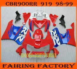 Wholesale Honda Cbr 919rr Fairing - Red blue Race moto ABS fairing for Honda CBR900RR 919 1998 1999 CBR 919RR 98 99 CBR 900 RR fairings