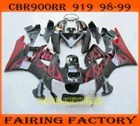 Wholesale honda cbr 919rr fairing - Red flame race fairing for 1998 1999 Honda CBR900RR 919 FIREBLADE CBR 919RR 98 99 CBR 900RR fairings