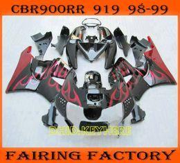 Verkleidungen fireblade online-Red Flame Rennverkleidung für 1998 1999 Honda CBR900RR 919 FIREBLADE CBR 919RR 98 99 CBR 900RR Verkleidungen