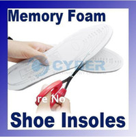 Wholesale Foam Insoles Shoes - White Comfortable and Durable Anti-Arthritis Memory Foam Shoe Insole