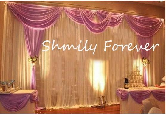 Romantic 3x6meters Ice Material Soft Wedding Backdrops Wedding Stage Decor Wedding Decoration Wedding Decorations From Wishmeluck2010 100 56