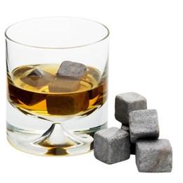 Wholesale Wholesale Whiskey Gift Sets - Wholesale 450pcs 50sets Whisky stones 9pcs set + velvet bag, whiskey rocks wine stone Christmas Valentine gift