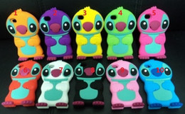 Wholesale Silicone Cases For Iphone China - Wholesale-Newest arrival 3D Stitch case for iphone 4 4s free shipping by China Post